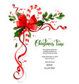 holiday floral decor vector image vector image