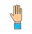 human hand business showing finger icon vector image vector image