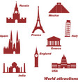 icons of world sights vector image