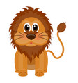 isolated cute lion vector image vector image