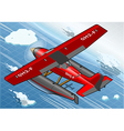 Isometric Artic Hydroplane in Flight in Rear View vector image vector image