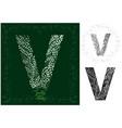 leaves alphabet letter v vector image vector image