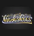 logo for las vegas vector image vector image