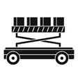 machine lift box icon simple style vector image