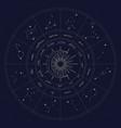 map zodiac constelattions vector image vector image