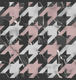 marble texture luxury houndstooth seamless vector image vector image
