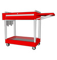 medical table on white background vector image vector image