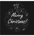 merry christmas on shiny semi transparent vector image vector image