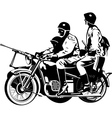 Military motorcycle vector image