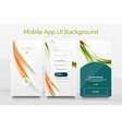 Mobile application interface background design vector image