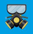 modern gas mask respirator fire equipment vector image vector image