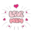 Mothers day cards vintage retro type font vector image vector image