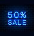 neon 50 sale vector image vector image