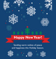 new year card with fir-tree vector image vector image