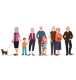 Old people grandparents couples set Granny with vector image vector image