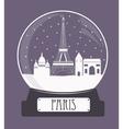 Paris christmas glass ball vector image vector image