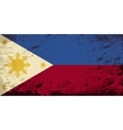 Philippines flag Grunge background vector image vector image