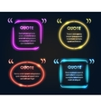 Quote neon frame set vector image vector image