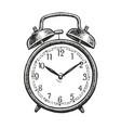 retro alarm clock sketch hand-drawn vintage vector image