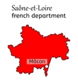 Saone-et-Loire french department map vector image vector image