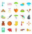 schoolkid icons set cartoon style vector image vector image