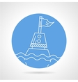 Sea buoy round icon vector image vector image