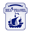 sea travel vector image vector image