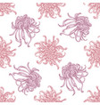 seamless pattern with hand drawn pastel japanese vector image vector image
