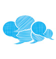 set of bubbles for a chat with different types of vector image vector image