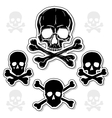 Set of skulls with crossbones vector | Price: 1 Credit (USD $1)