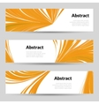 set orange curved lines backgrounds banners and vector image