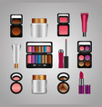 spray cream tube cosmetic makeup products vector image vector image