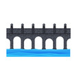 stone bridge city architectural design element vector image