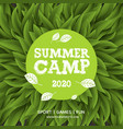 summer camp poster summer holiday and travel vector image vector image