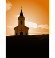 Sunset chapel vector image