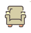 theater chair icon design on white 48x48 pixel vector image
