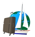Traveling on a yacht vector image vector image