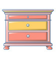 vintage drawers icon cartoon style vector image vector image