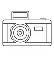 vintage photo camera icon outline style vector image