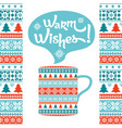 warm wishes winter background vector image