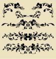 baroque borders vector image