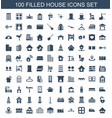 100 house icons vector image vector image