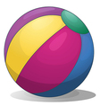A colorful inflatable beach ball vector image