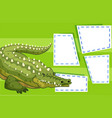 a crocodile on blank note vector image vector image