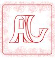 AJ monogram vector image vector image