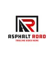 asphalt road construction logo with letters ar