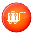 Baggage cart icon flat style vector image vector image