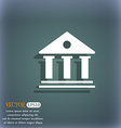 bank icon On the blue-green abstract background vector image vector image