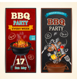Barbecue Party Banners Set vector image vector image