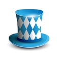Bavaria Hat Oktoberfest background Bavarian flag vector image vector image